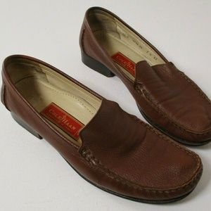 Cole Haan Womens Sz 7.5AA Brown Leather Slip On Dr